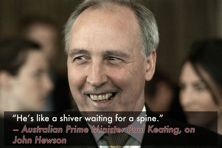 When Paul Keating put John Hewson out of his misery.   16 Of The Sickest Burns In History