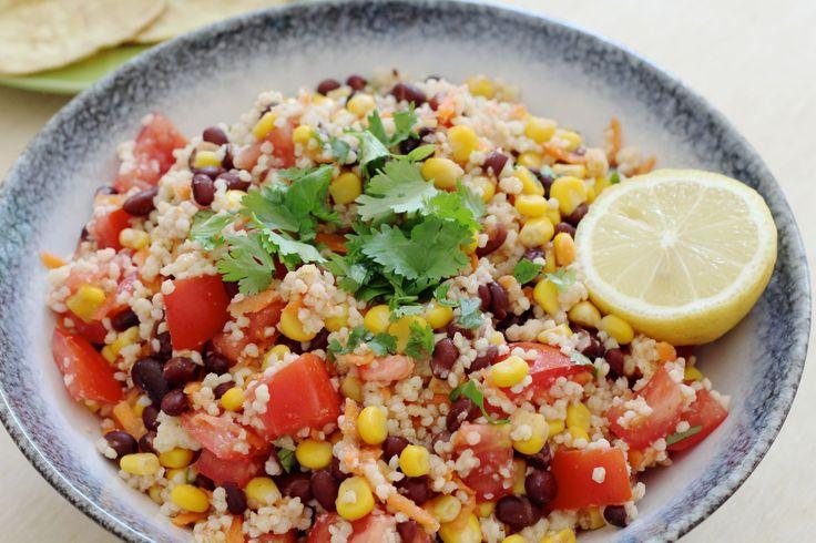 Mexicaanse maaltijdsalade met gierst