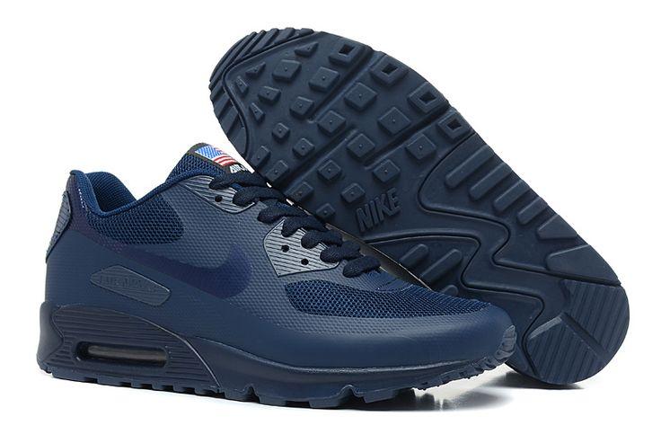 Nike Air Max 90 Hyperfuse Heren Alle Diepblauw