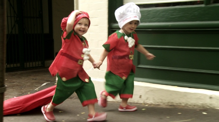 Christmas Delivery by two gorgeous soux chefs  http://www.thefilmbakery.com/blog/12-tastes-of-christmas-down-under