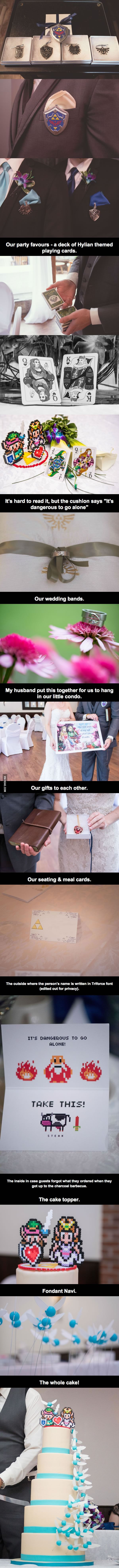 Perfect The Legend of Zelda wedding• I NEED IT!!! stealing some of these >_> <_< >_<
