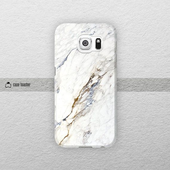 White marble  Samsung Galaxy S6 case Galaxy Note 4 by CaseToaster