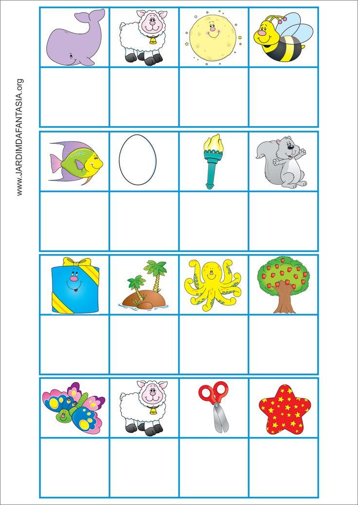 Jogo com  Letra Inicial e Formação de Palavras