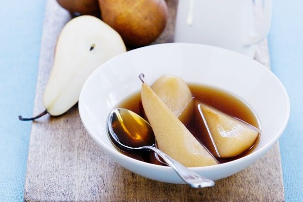 Tea-Poached Pears - There are so many ways to enjoy a tea beverage, including this refreshing dessert.