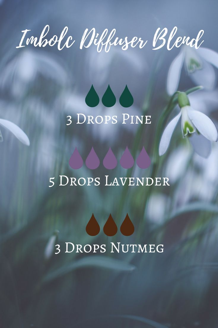 An essential oil diffuser blend for the sabbat of Imbolc - includes a preview of The Modern Witch's Guide to Imbolc online course.