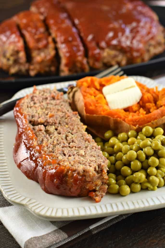 The Best Classic Meatloaf Recipe With Bbq Glaze Weeknightdinner