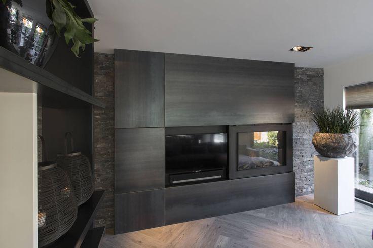 Foto s van een moderne woonkamer haard tvmeubel van blauwstaal living rooms and room - Moderne lounges fotos ...