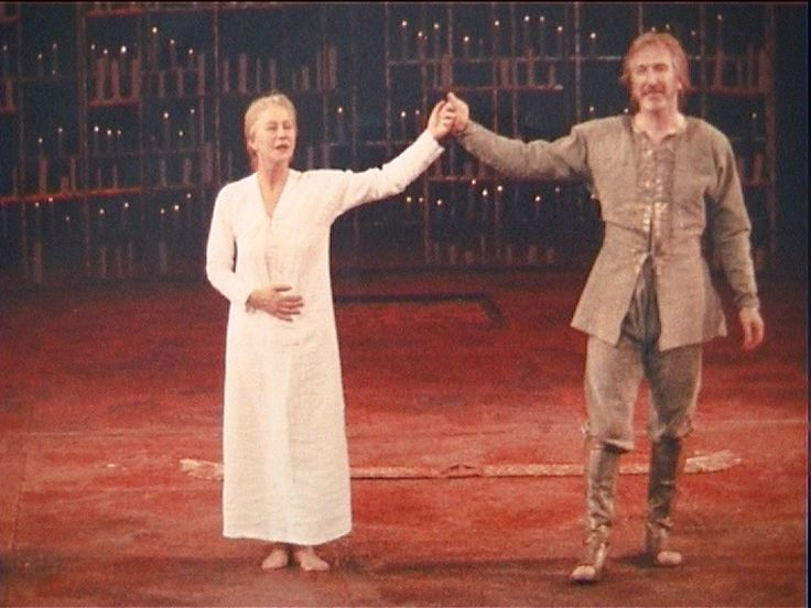 "Alan Rickman and Helen Mirren ""Antony and Cleopatra"""