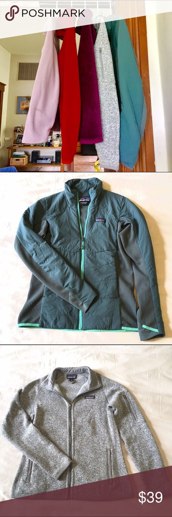 🌺 BOGO 50% OFF Patagonia Jackets 🌺 I'm cleaning out my closet for spring and am having a huge buy one get one half off sale THIS WEEK ONLY! Items for sale: BRAND NEW Patagonia Nano Air Hybrid Jacket S ($149), BRAND NEW Patagonia Better Sweater Full Zip Jacket S ($99), Patagonia Re-Tool Snap-T Fleece S ($69), Eddie Bauer Full Zip Fleece Jacket PXS ($39) Patagonia Tops Sweatshirts & Hoodies