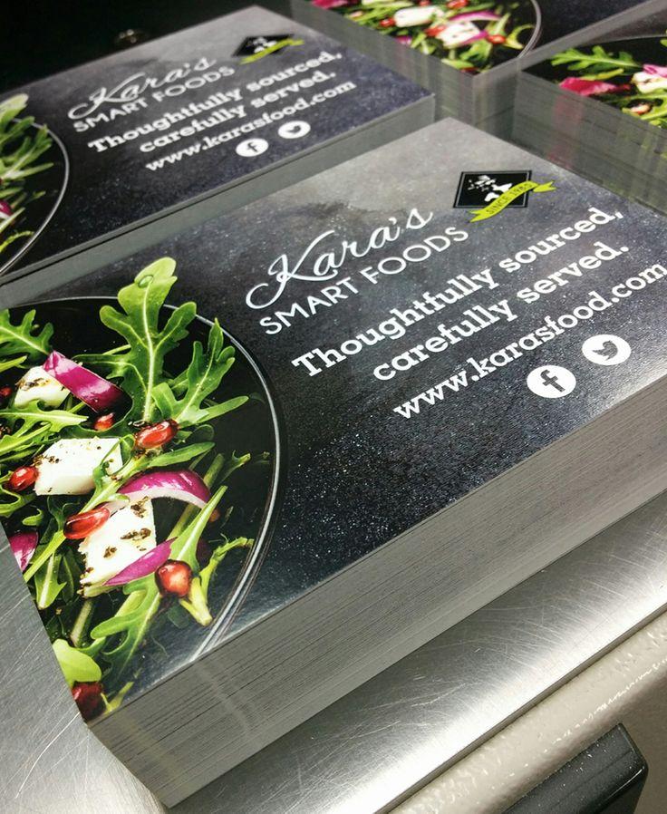 Postcards we designed and printed for Kara's Smart Foods here in #Kitchener. #MoreThanJustSigns #design #postcards #printing #printshop