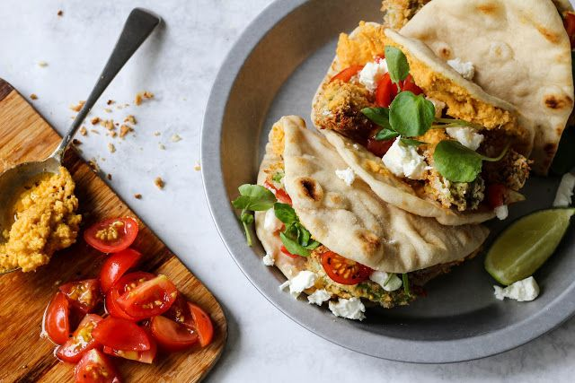 The Spoon and Whisk: Crispy Avocado Wedges and Sweet Potato Hummus Flatbreads