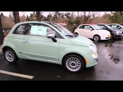 2014 Fiat 500 Lounge | Light Green | ET169308 | Redmond | Seattle