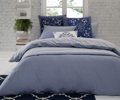 Kipling Blue #quiltcoverset  & #coverlet | Bellura European Pillowcase & Sahana #cushion