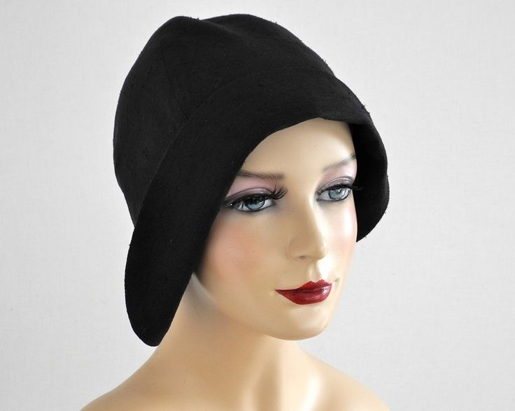 Women's Black Cloche Hat- Fall Fashion- Winter Accessories- Spring Fashion. $32.00, via Etsy.
