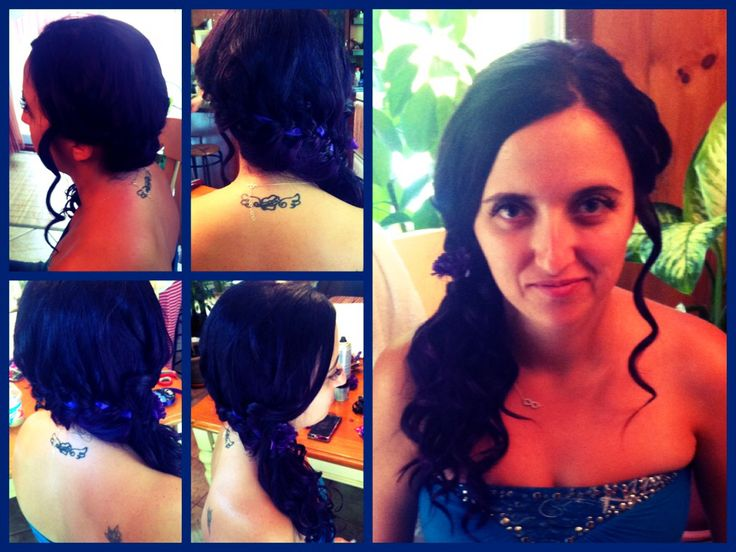 Wedding hair for bridesmaid with braid