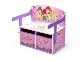 Dětská lavice s úložným prostorem Princess