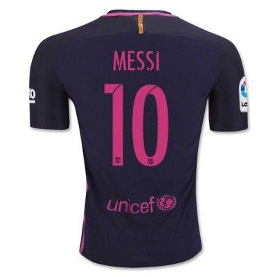 Barcelona 16-17 Lionel Messi 10 Udebane Trøje Kortærmet.  http://www.fodboldsports.com/barcelona-16-17-lionel-messi-10-udebane-troje-kortermet.  #fodboldtrøjer
