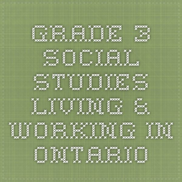 Link to Learning Grade 3 Social Studies Living & Working in Ontario