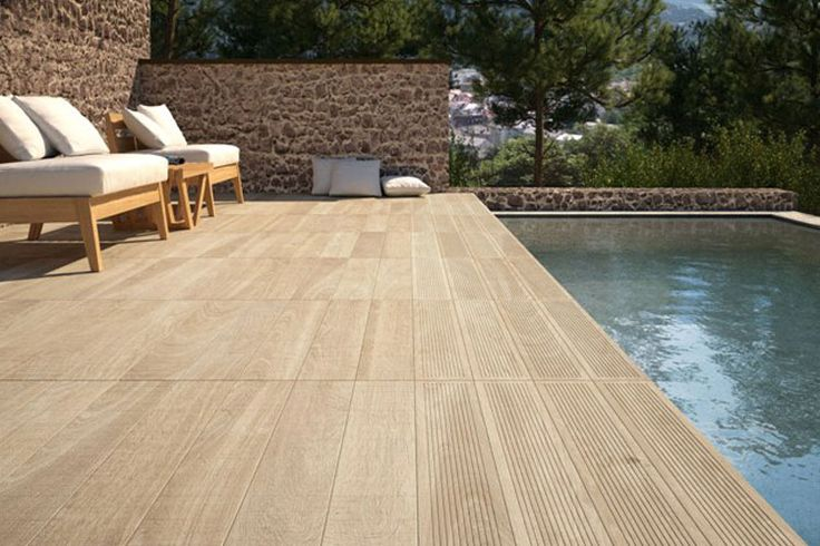 Diseño de pavimentos de exterior: Cerámicos de imitación madera