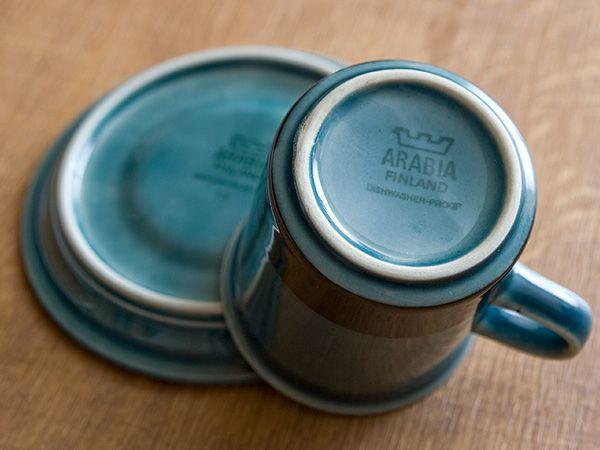 【楽天市場】*【アンティーク Arabia アラビア】Arabia/アラビア Meri メリ コーヒーカップ&ソーサー 《ビンテージ/vintage/ヴィンテージ》【アドキッチン】:アドキッチン