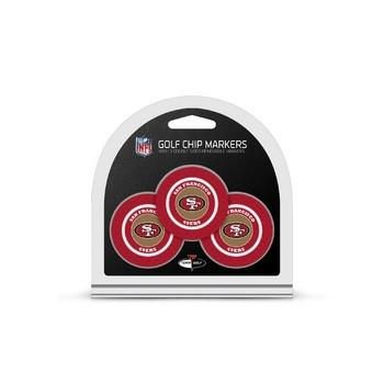San Francisco 49ers Golf Chip with Marker 3 Pack