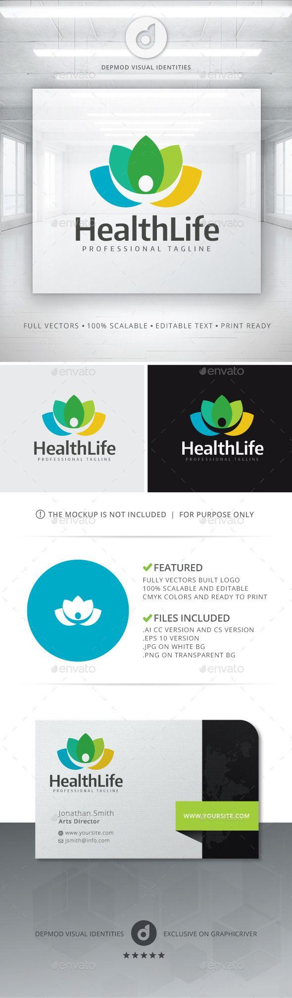 Health Life Logo Template Vector EPS, AI. Download here: http://graphicriver.net/item/health-life-logo/11454318?ref=ksioks