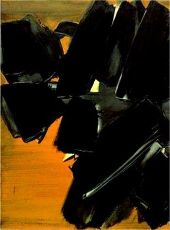 PIERRE SOULAGES - Peinture 81 x 60cm, 21 mars 1961