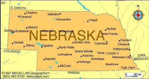 Looking for nebraska on us map? Nebraska Atlas Maps And Online Resources Infoplease Com Nebraska Us Geography The States Of America
