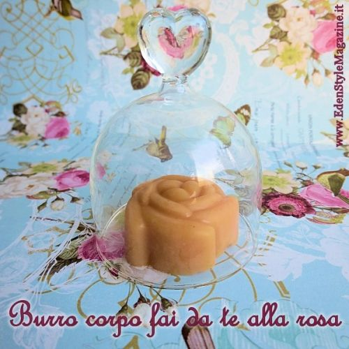 burro corpo fai da te alla cera di rosa