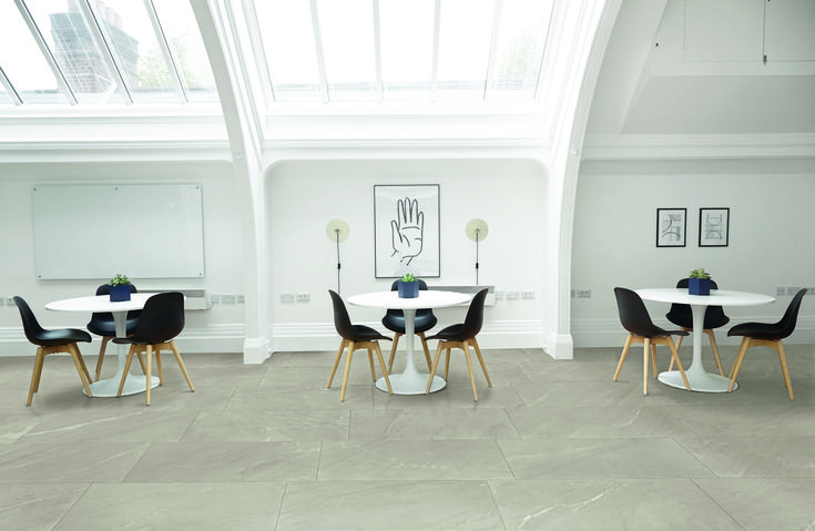 Atlantis by Campogalliano is a collection of full body porcelain stoneware vailable in six colors reproducing the look of natural stone. Due to its composition which allows for a great variety of uses, this timeless collection will be able to integrate to all your projects. #diningroom #tiles #flooring