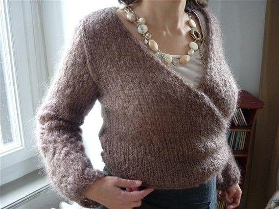 patron tricot cache coeur