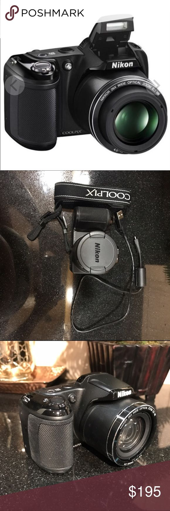 Nikon Coolpix L330 20.2 MP Camera Like new camera - I bought this for a trip and used it one time. Camera comes with batteries, strap, and connector cable. Nikon Other