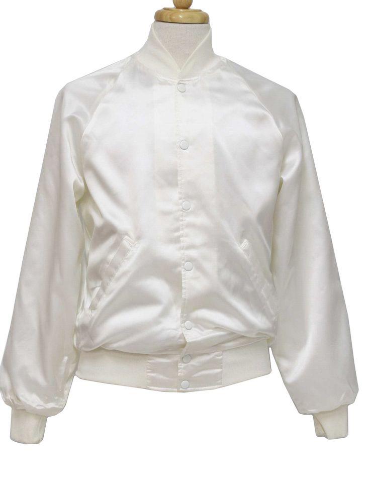 White Satin Baseball Jacket