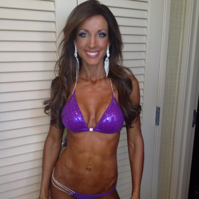 April ready for the Jake Cutler Classic Fitness Competition! Hair and Makeup by Amelia C for Amelia C & Co