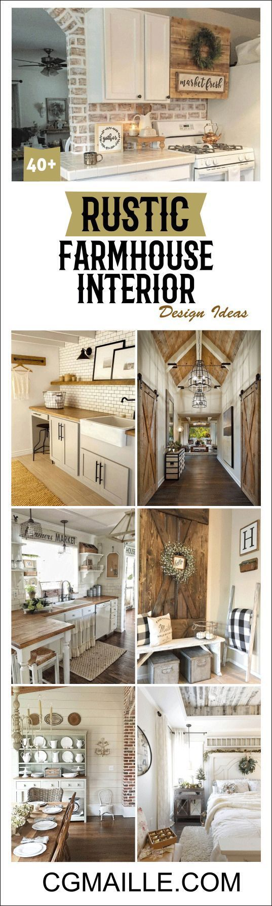 14549 best shabby chic decor images on pinterest shabby for Farmhouse interior design characteristics