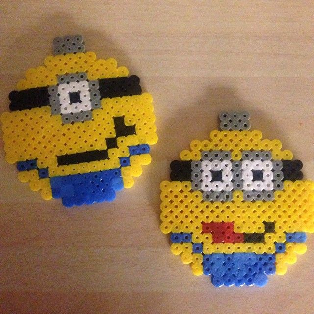 Minion Christmas baubles hama perler beads by luzorsus