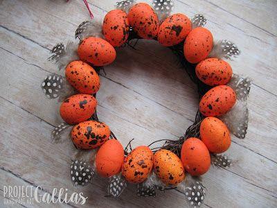ProjectGallias: #projectgallias Easter decoration, Wielkanocny wianuszek, handmade