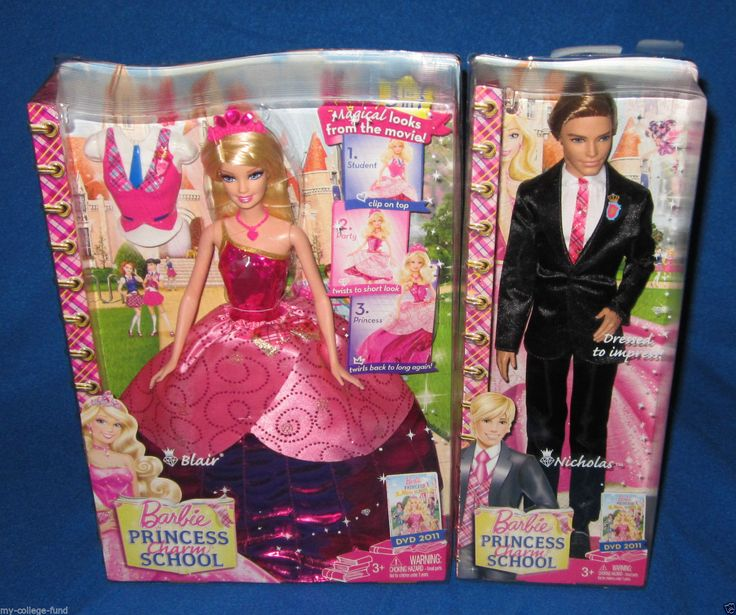 2011 Barbie Princess Charm School: School Girl Schoolgirl Princess Blair Doll by Mattel 3 - in - 1 Transforming Gown - BARBIE and KEN SET V6827 | eBay