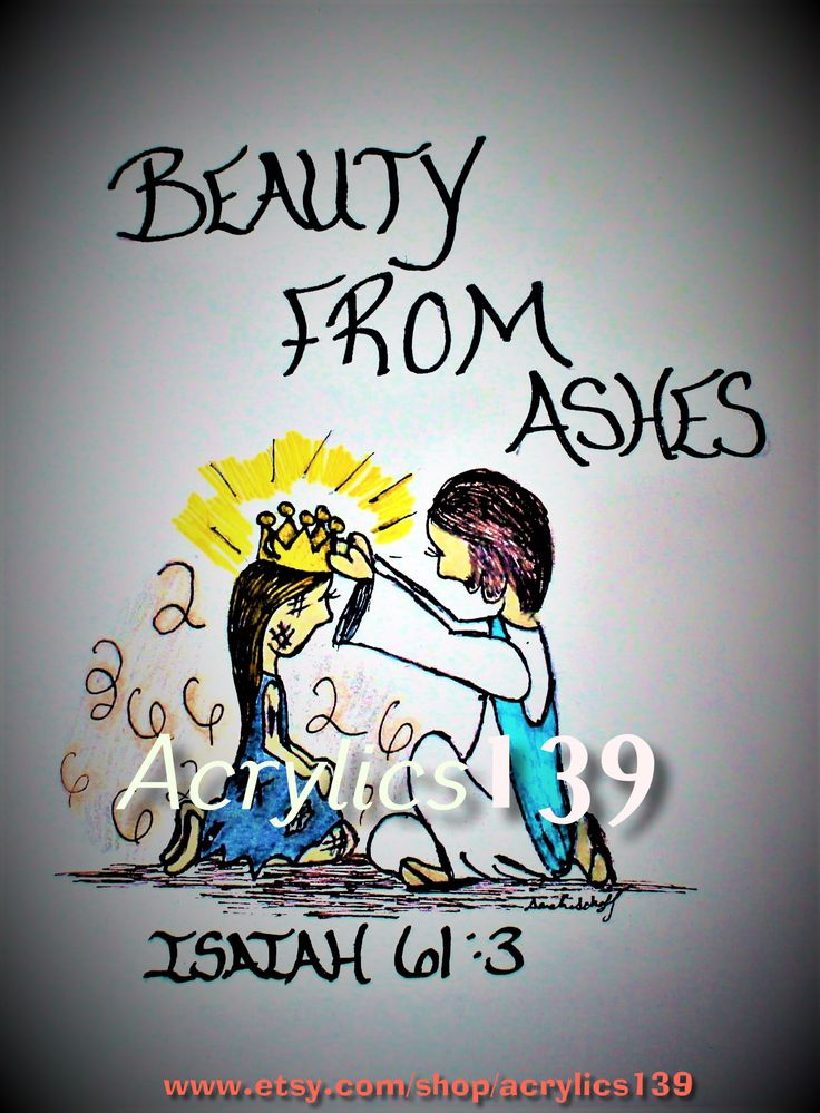 """And provide for those who grieve in Zion- to bestow on them a crown of beauty instead of ashes, the oil of joy instead of mourning, and a garmet of praise instead of a spirit of despair. They will be called oaks of righteousness and planting of the LORD for the display of his splendor."""" Isaiah 61:3 (Scripture doodle of encouragement/Bible Art Journaling/Sunday School/Children's Church/Bible Study/Devotional/Women's Ministry/Women's Retreat"""