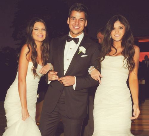 Robert Kardashian with Kendall and Kylie Jenner