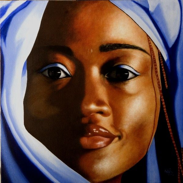 389 2010 Congolese girl. oil on canvas
