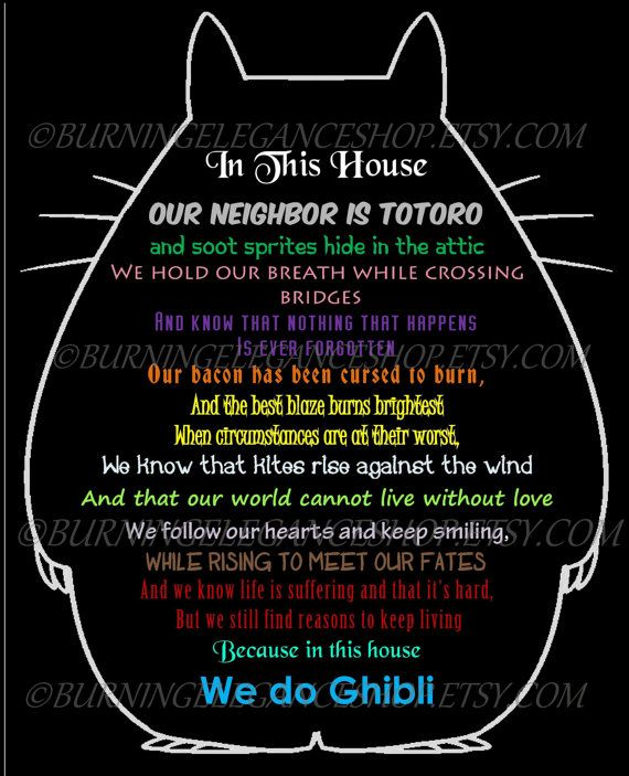 This is the perfect print for any Miyazaki/Studio Ghibli Fan! Each sentence is…