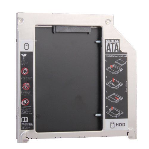 9.5mm SATA to SATA 2nd HDD Hard Drive Caddy for Universal Apple MacBook Pro