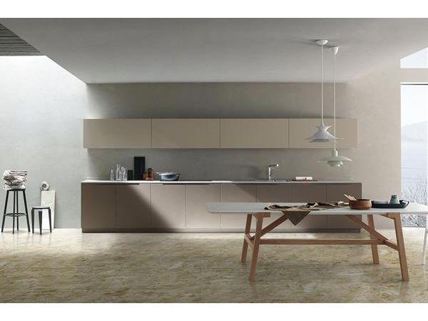 البلاط الرخامي Onice Cappuccino Gani Contemporary Kitchen Kitchen Showroom Kitchen Fittings