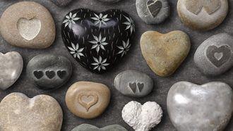 лето, любовь, позитив, морские, рисунок, сердечки, цвета, фон, камушки, форма