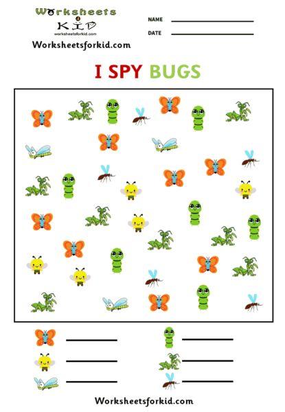 I SPY Bugs - Worksheetsforkid.com #math #Ispy #kids # ...