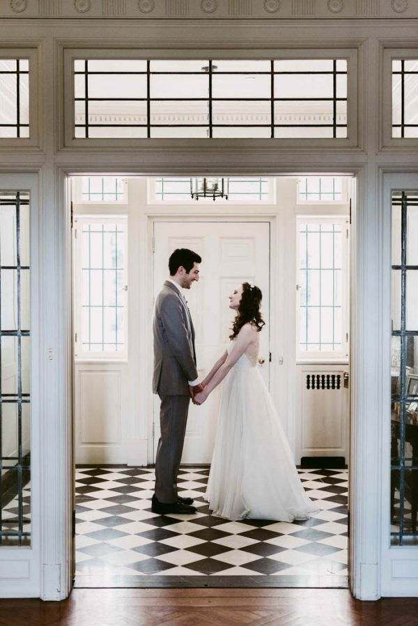 Enchanting Jewish Wedding in Cleveland, Ohio / bride wearing gorgeous Leanne Marshall gown from Something White, A Bridal Boutique, Independence Ohio / photo by Suzuran Photography / event design and planning by A Charming Fete / florals by Molly Taylor & Co.