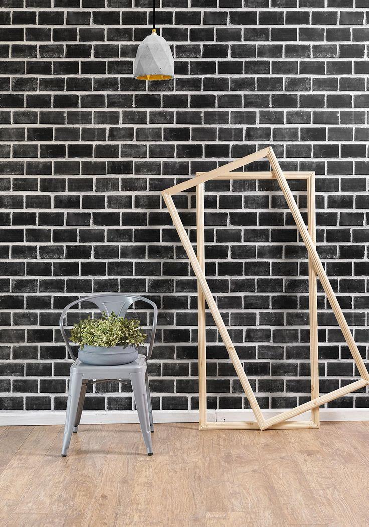 Best 25 Black brick wallpaper ideas on Pinterest Bachelor decor