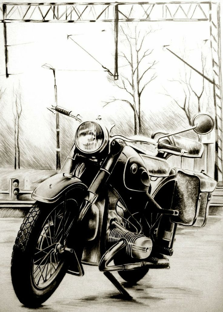 Old russian motorcycle,Ural M61 Graphite,A3