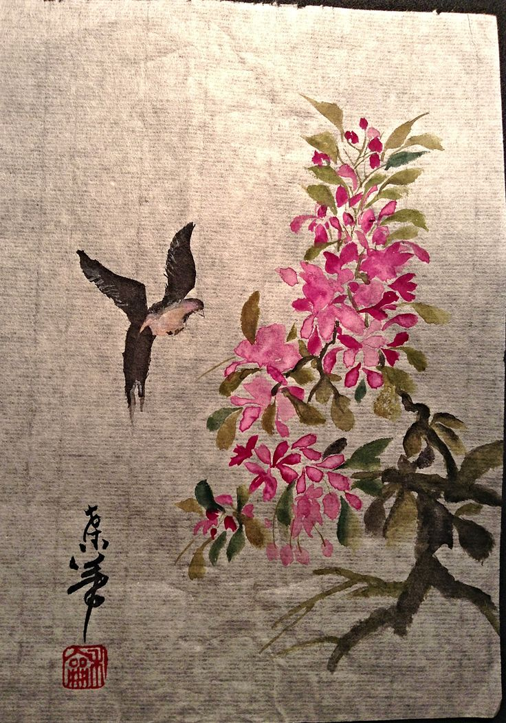 Water color  done on rice paper.